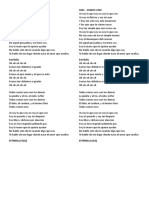 Letra de La Cancion Somos Uno