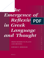 (Philosophia Antiqua, 129) Edward T. Jeremiah-The Emergence of Reflexivity in Greek Language and Thought_ From Homer to Plato and Beyond-Brill Academic Pub (2012).pdf