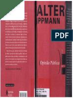 Lippmann, W. Opinião Pública 2008