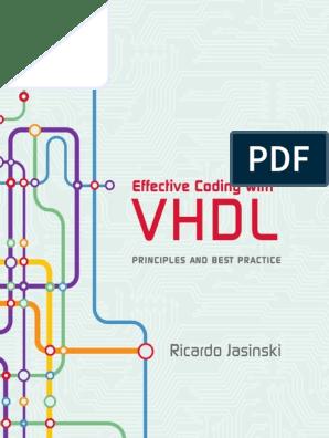 Ricardo Jasinski-Effective Coding with VHDL (2016) pdf | Vhdl