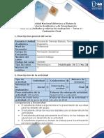 Guía de Actividades y Rúbrica de Evaluación - Tarea 4 - Evaluación Final