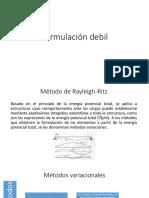 Formulación Debil Unidad 1 (Analisis de Elementos Finitoss)