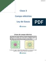 Clase 3 - Campo electrico - Ley de Gauss.pdf