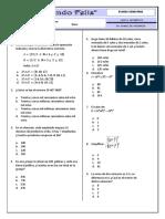 Examen Semestral - 5 - Primaria 2017