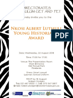 Young Historian's Award Ceremony