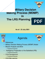 Long-Range surveillance detachment decision making, with maps