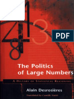 Alain Desrosieres - The Politics of Large Numbers
