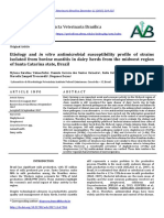 2017 Valmorbida M Etiology and in Vitro Antimicrobial Susceptibility