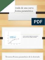 Derivada de Una Curva en Forma Paramétrica