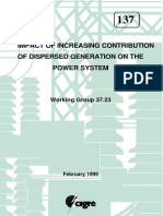 Impact of increasing contribution of dispersed generation on the power system