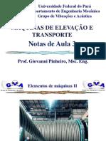 Maq. de Eleva��o -Aula 3 - Cabos de a�o-1