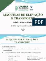 Maq. de Elevação - Motores Elétricos