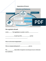 separation of powers lecture lesson guided notes