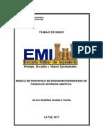 Modelo de Portafolio de Inversión Diversificado en Fondos de Inversión Abiertos.