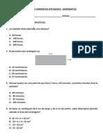 Formativa Matematica 4to Basico - Medicion