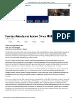 Fuerzas Armadas en Acción Cívico Militar - Diario La Tribuna