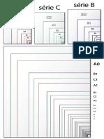 Comparação de tamanhos de Papel em Séries