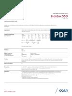 Acero Hardox550