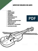 Pinte as Partes Do Violino e Do Arco