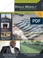 Rhula Mozambique Weekly Media Review - 17 March to 24 March 2017