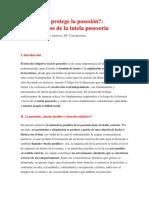 Tutel Posesoria Fuente Legis,Pe