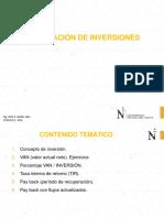 12.0 Valoración de Inversiones