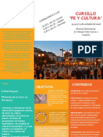 Cursillo _fe y Cultura Programa - Triptico