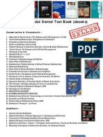 Daftar Judul Text Books Kedokteran Gigi (Updated Agustus 2010)