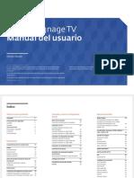Amsung 48 Smart Signage Tv Para Pequenas y Medianas Empresas Manual de Usuario