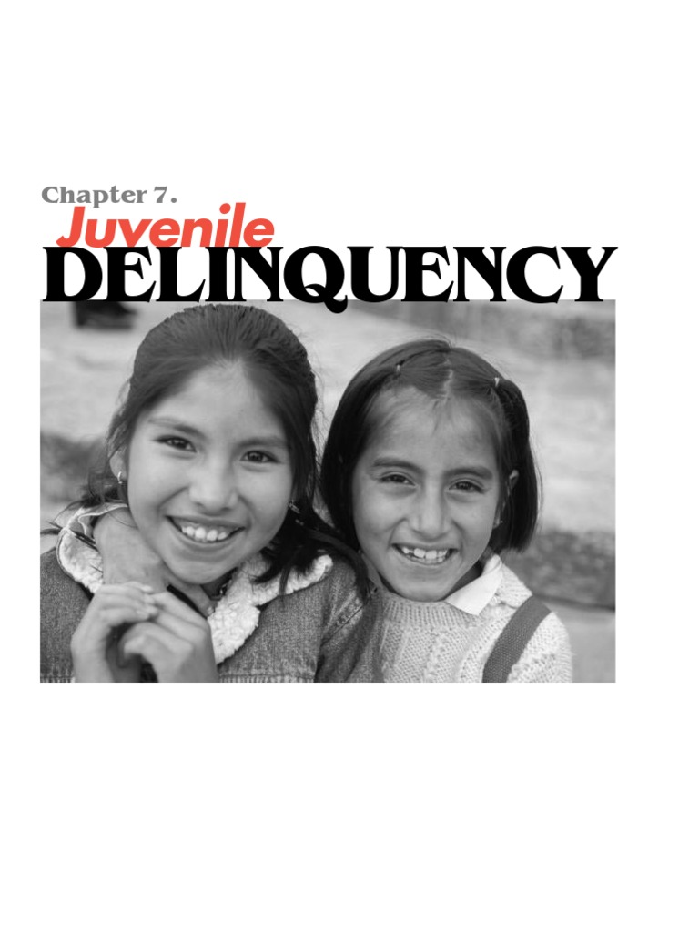 Literature review on juvenile delinquency
