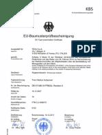 EU Baumusterprüfbescheinigung