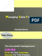 Marketing-managing sales force
