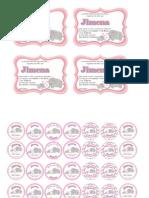 Invitaciones y Etiquetas Jimena