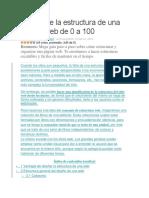 Diseño de La Estructura de Una Página Web de 0 a 100