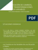 Identificación de Cambios, Orden y Transformaciones En