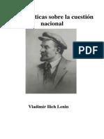 Lenin- Notas Críticas Sobre La Cuestión Nacional