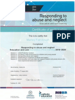 responding to abuse and neglect full day training certificate