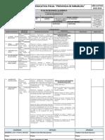Plan de Refuerzo Academico 2do Quimica