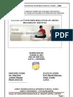 Consumer Behaviour Broadbband Airtel