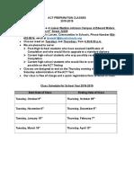 BTSA-2018-2019-ACT Prep Class-Schedule for ACT Prep Classes-2018-2019-10-04-18.docx