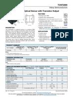 Vishay TCNT2000 Reflective Optical Sensor With Transistor Output