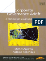 Michel Aglietta, Antoine Reberioux - Corporate Governance Adrift_ a Critique of Shareholder Value (Saint-Gobain Centre for Economic Studies) (2005)