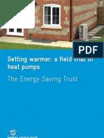 Getting Warmer a Field Trial of Heat Pumps Report