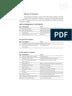 HPK RC EQ Earthquake Cabinet Contents