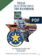 TEXAS Commerial Motor Vehicle Driver HANDBOOK Revised June 2014