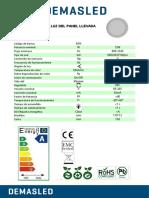 Panel Led Embutido Redondo 170 Mm 12w Blanco Frio 6000k 1020 Lm 220v