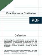 Investigación Cuantitativa vs Cualitativa