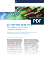 Lessons From Digital Telcos Five Initiatives to Improve Business Performance