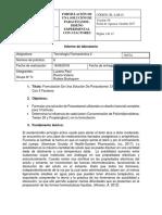 Informe 6 Formulación de Una Solución de Paracetamol.