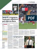 La Provincia Di Cremona 08-10-2018 - Serie B